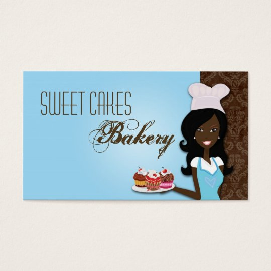 African American Baker Cup Cakes Business Card