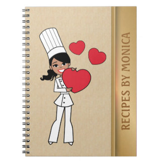 African American Baker Lady Notebook