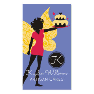 African American baker pastry chef cake fairy Business Card