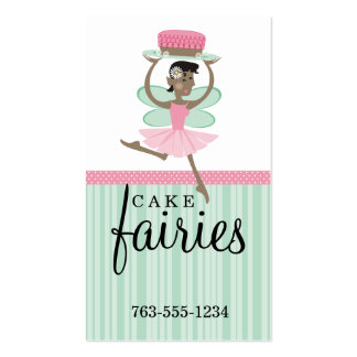 African American bakery fairy chocolate cake Double-Sided Standard Business Cards (Pack Of 100)