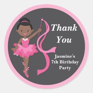 African American Ballerina Dance Party Sticker