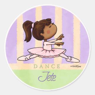 African American Ballerina Dancer Classic Round Sticker