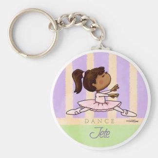 African American Ballerina Dancer Key Chain