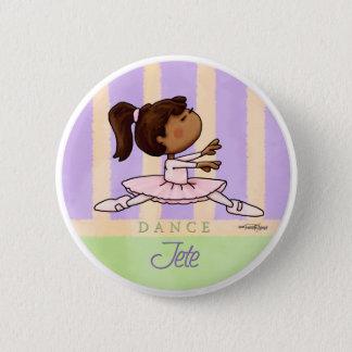 African American Ballerina Dancer Pinback Button
