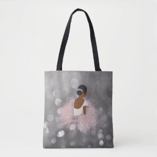 African American Ballerina Dancer Tote Bag