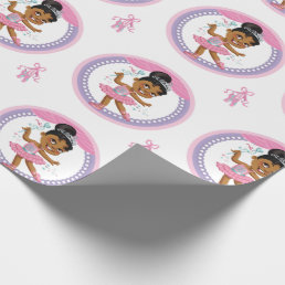 "African American Ballerina Wrapping Paper 30"" x 6'"
