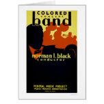 African American Band 1936 WPA Card