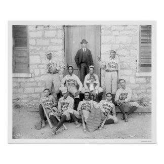 African American Baseball 1900 Poster
