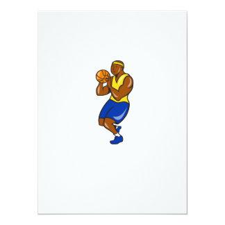 African-American Basketball Player Shoot Ball Cart 14 Cm X 19 Cm Invitation Card