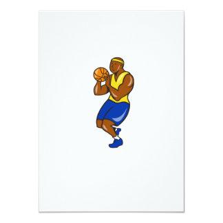 African-American Basketball Player Shoot Ball Cart 11 Cm X 16 Cm Invitation Card