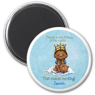 African American Big Brother - Prince 2 Inch Round Magnet