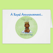 African American Big Brother - Princess Card