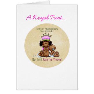 African American Big Sis of Twins Card