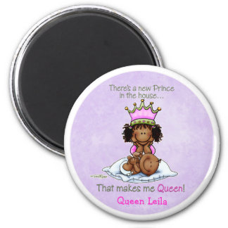 African American Big Sister of Prince 2 Inch Round Magnet