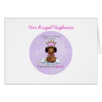 African American Big Sister of Prince Card