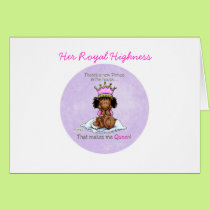 African American Big Sister of Prince Card
