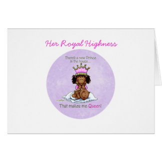 African American Big Sister of Prince Greeting Card