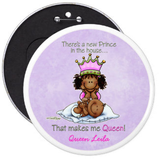 African American Big Sister of Prince Pinback Button