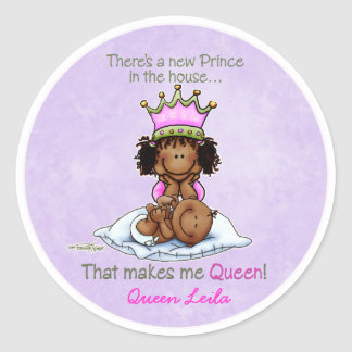 African American Big Sister of Prince Stickers