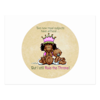 African American Big Sister - Twins Queen Postcard