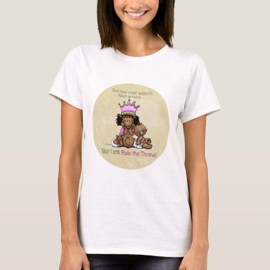 African American Big Sister - Twins Queen T-Shirt