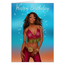 African American Birthday Card