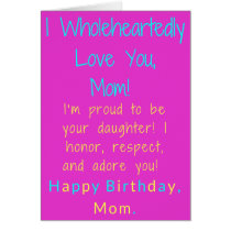 African American Birthday Card for Mom