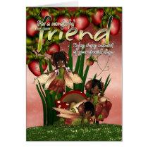 African American Birthday Card - Friend - Moonies