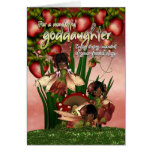 African American Birthday Card - Goddaughter - Moo