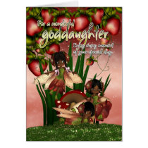 African American Birthday Card - Goddaughter - Moo