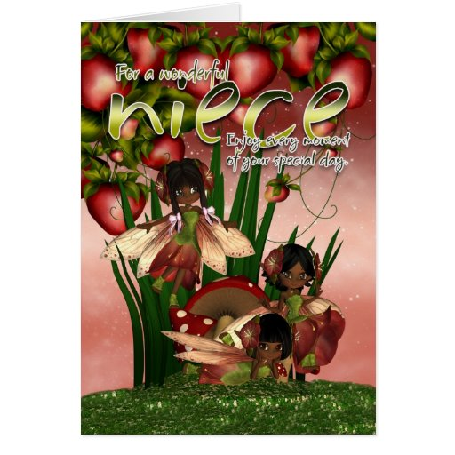 Happy Birthday Niece Images African American ~ African american birthday card niece moonies c zazzle