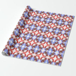 African American Black Brown Hispanic Santa Claus Wrapping Paper