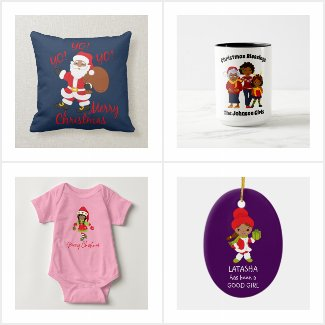 African American Black Christmas Decor and Gifts