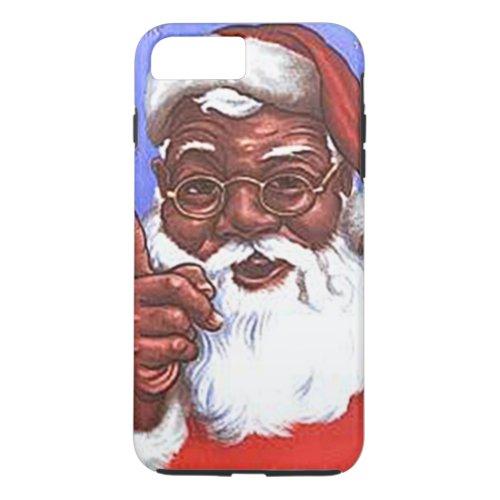 African American Black Santa Claus Christmas Phone Case