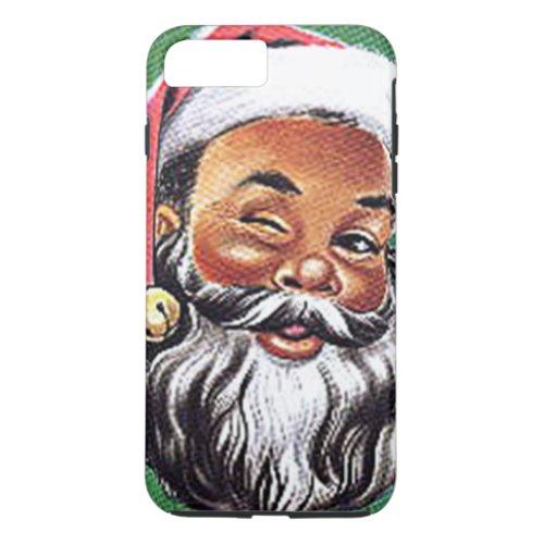 African American Black Santa Claus Christmas iPhone 8 Plus7 Plus Case