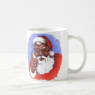 African American Black Santa Claus Christmas Coffee Mug