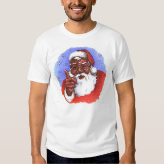 African American Black Santa Claus Christmas T Shirt