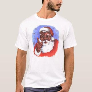 African American Black Santa Claus Christmas T-Shirt