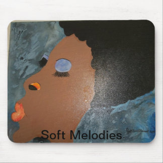 African american black women afro art mousepad