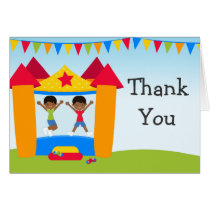 African American Bounce House Party Thank You Card