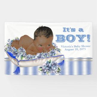 African American Boy Baby Shower Banner