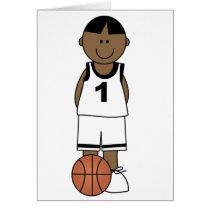 African American Boy Basketball Card