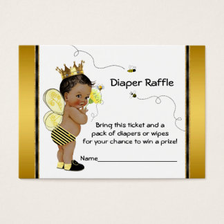 African American Boy Bee Diaper Raffle Ticket