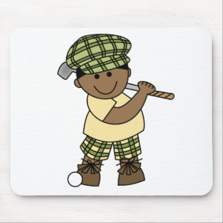 African American  Boy Golfer Mouse Pad