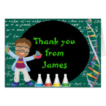 African American Boy Scientist Thank You Note Card
