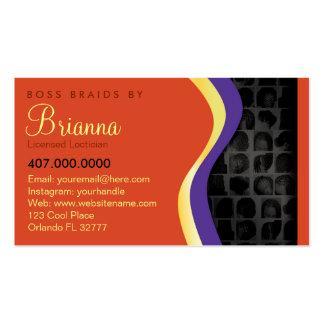 African American Braider Braids Business Card