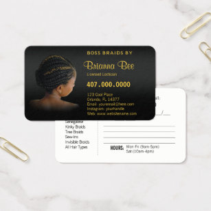 African american business cards templates zazzle african american braider braids business card colourmoves Images
