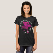African American Breast Cancer T-Shirt Hope Fight