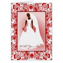 African American Bridal Invitation