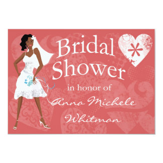 african american bridal shower invitations  announcements  zazzle, Bridal shower invitations